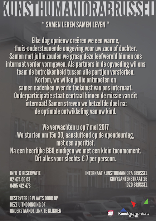 Ouderfeest internaat - 7 mei 2017