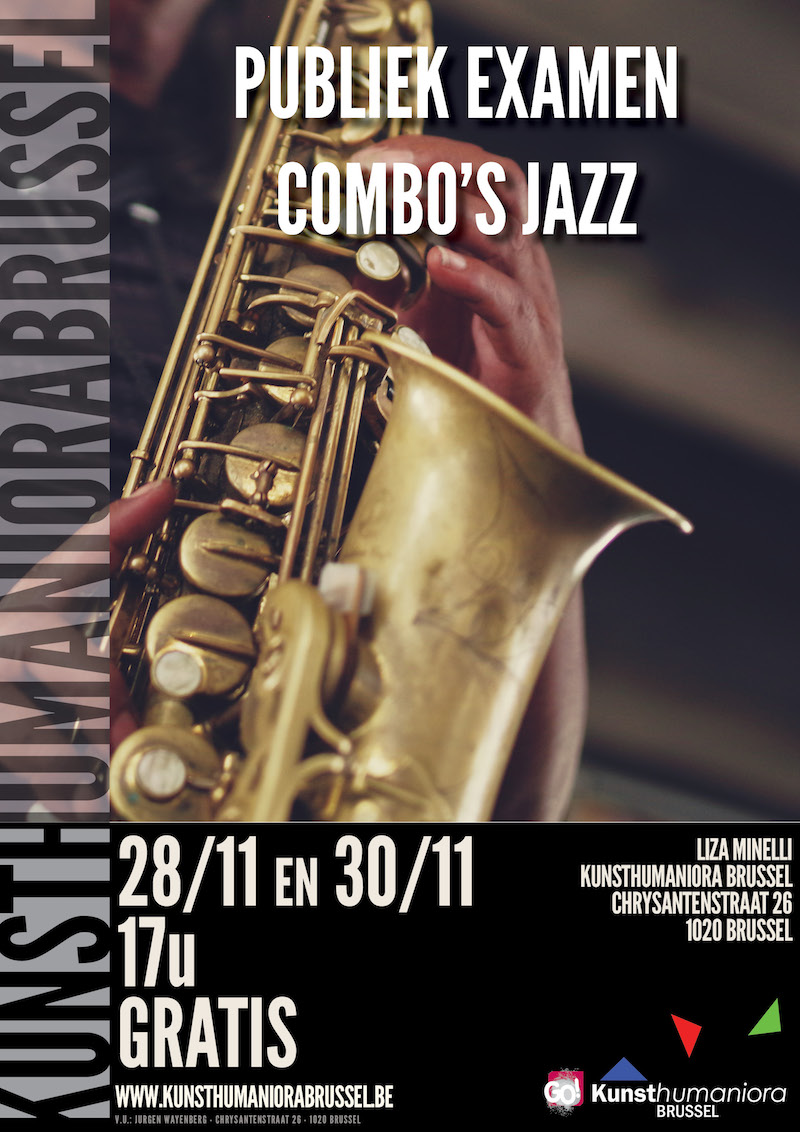 Publiek Examen Jazz Combo - 28 en 30 November 2017